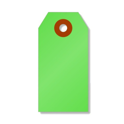 Mini Shipping Paper Tags - 1.375 x 2.75 - Neon Green