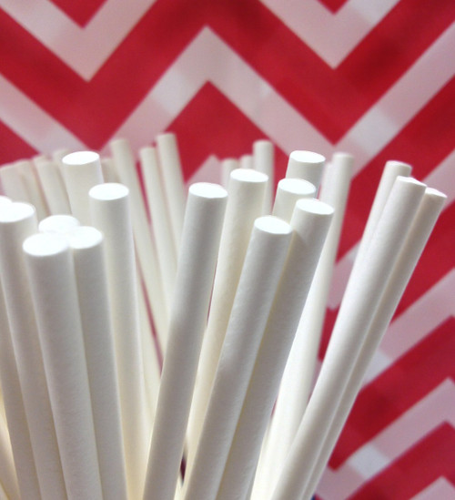 Paper Sticks for Lollipops Cake Pops Candies Chocolates Rock Candy - 4 Inches