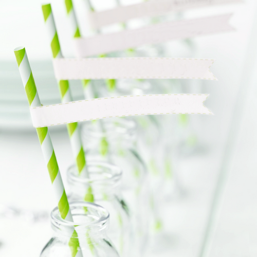 Editable PDF Download - Paper Straw Flags