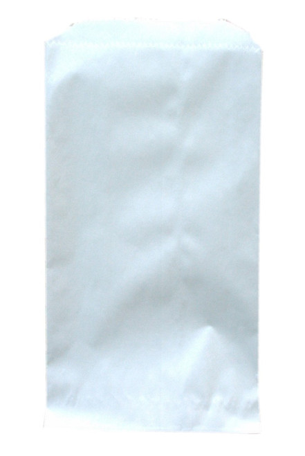 Extra Small White Paper Flat Merchandise Bags - 3 1/4 Inches x 5 1/4 Inches