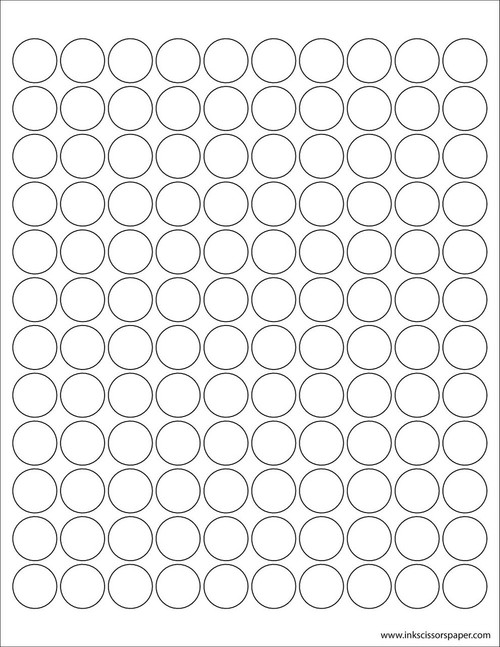 Template X Inch Rectangle Labels InkScissorsPaper - 2 inch round label template