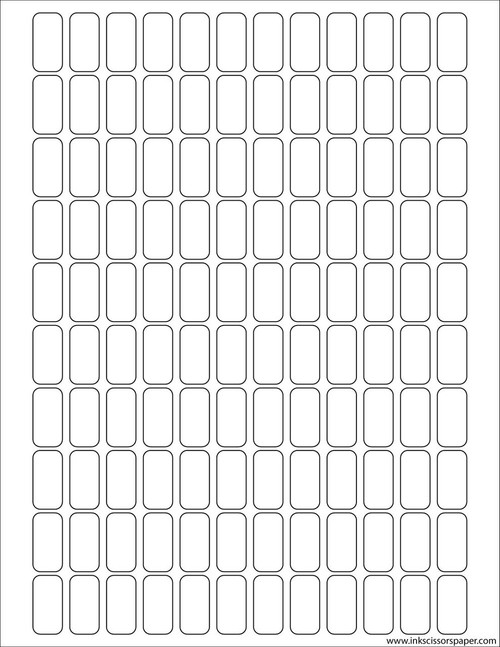 Template - 1/2 x 1 Inch Rectangle Labels
