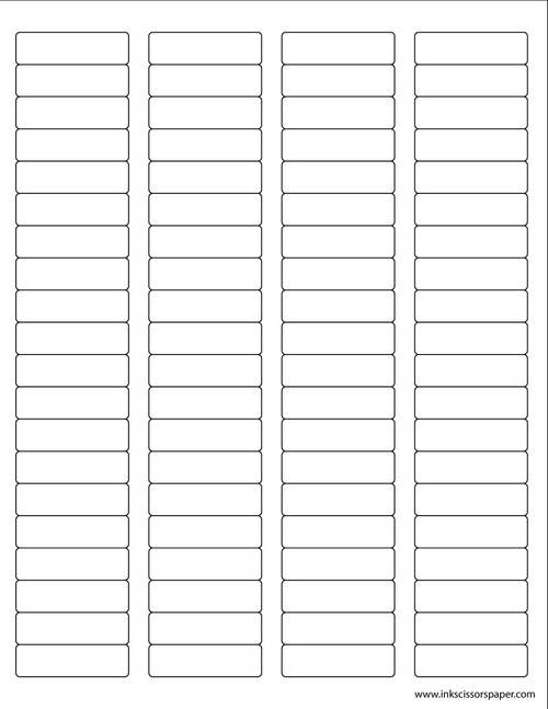 Template - 1 3/4 x 1/2 Inch Rectangle Labels