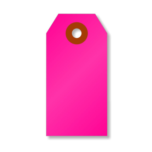 Mini Shipping Paper Tags - 1.375 x 2.75 - Neon Pink
