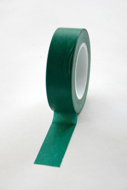 Washi Tape - 15mm - Deep Green Forest Green - No. 6
