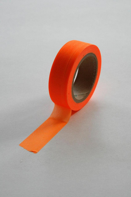 Washi Tape - 15mm - Neon Orange - No. 20