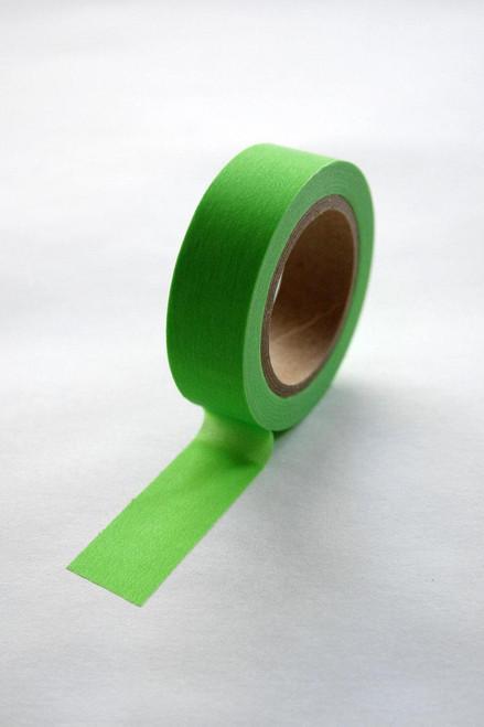 Washi Tape - 15mm - Neon Green - No. 22