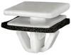 Rocker Panel Moulding Clip With Sealer White Nylon Top Head Size: 16mm x 20mm Bottom Head Size: 14mm x 18mm Stem Diameter: 13mm Stem Length: 10mm Hyundai Azera, Tiburon & XG300/350 2011 - 01 OEM# 87758-39000 25 Per Box