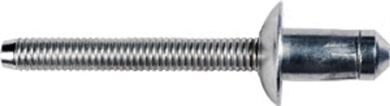 "Cab, Rear Body, Floor, Door, Box, Wheel house & Back Panel Specialty Rivet 1/4"" (6.3mm) Diameter Grip: .060"" - .138"" (1.5mm - 3.5mm) Flange Diameter: 1/2"" (13mm) Steel Rivet (Zinc), Steel Mandrel (Zinc) Ford F-150 Trucks With Aluminum Body 2015 - On OEM# W707638-S900C 10 Per Box"