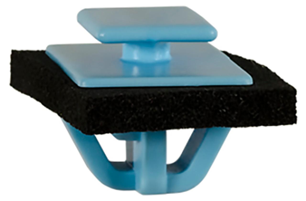 Fender Flare, Rocker, Door & Exterior Moulding Clip With Sealer Blue Nylon Top Head Size: 10mm x 12mm Bottom Head Size: 14mm x 20mm Stem Diameter: 14mm Stem Length: 10mm Hyundai Santa Fe 2013 - On Kia Sportage 2011 - On OEM# 87756-1F000 25 Per Box