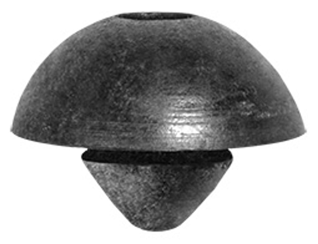 Rubber Bumper Head Diameter: 15mm Fits Into 6mm Hole Black Rubber 15 Per Box