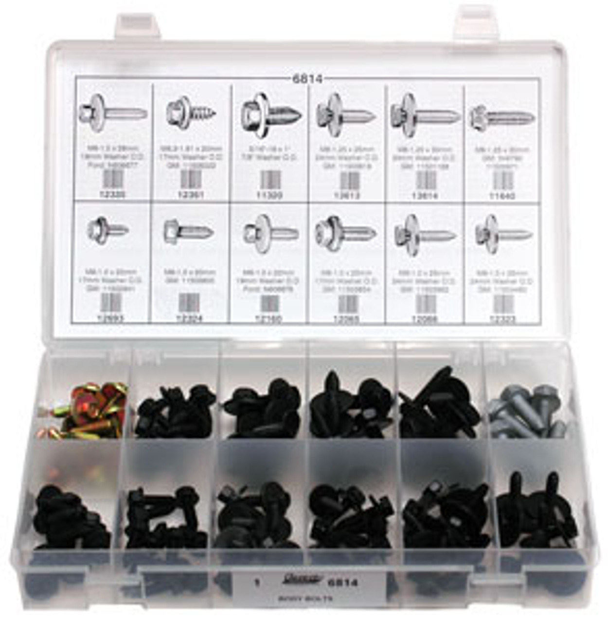 Body Bolts Quick-Select Assortment Kit 101 Pieces