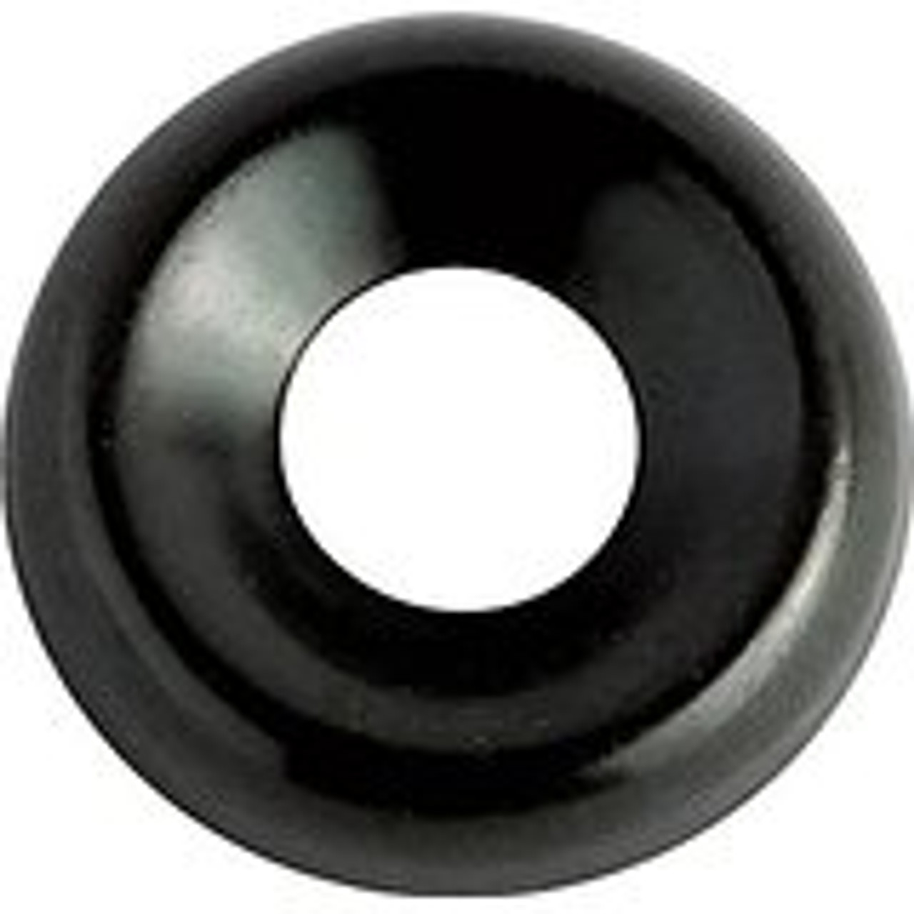 """Countersunk Type Washer Screw Size: #6 I.D. 11/64"""" O.D. 7/16"""" Black Zinc Plated Brass 100 Per Box Click Next Image For Washer Size Chart"""