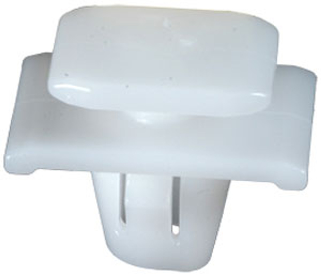 Front & Rear Door Exterior Trim Moulding Clip Top Head Size: 12mm x 15mm Bottom Head Size: 14mm x 20mm Stem Length: 9mm Acura RDX 2009 -07 OEM# 75315-STK-A01 White Nylon 15 Per Box Click Next Image For Clip Detail