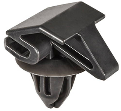Fender Corner & Rocker Moulding Clip Gray Nylon Top Head Size: 16mm x 23mm Bottom Head Diameter: 17mm Stem Length: 12mm Fits Into 9mm Hole Ford Focus 2012 - On OEM# W790225-S900 10 Per Box