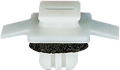 Wheel Arch Garnish Moulding Clip With Sealer Top Head Size: 7mm x 7mm Bottom Head Size: 10mm x 19.5mm White Nylon Stem Length: 6mm Honda CR-V 2007 - On Honda Pilot 2016 - On Honda OEM# 91513-SMG-E01 25 Per Box