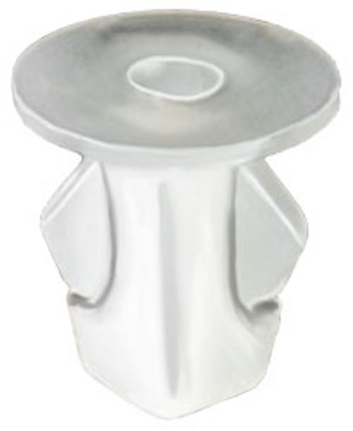 Screw Size: M5.5 (#12) Head Diameter: 16mm Natural Nylon Stem Length: 16mm Fits Into 9mm x 9mm Square Hole Toyota Yaris and Scion xA & xD 2007 - On Toyota OEM# 90189-06076 25 Per Box