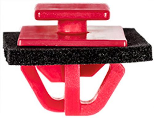 Fender, Rocker & Wheel Moulding Clip With Sealer Top Head Size: 10mm x 12mm Bottom Head Size: 14mm x 20mm Red Nylon Stem Length: 10mm Kia Sorento 2016 - On Kia OEM# 87756-C5000 25 Per Box