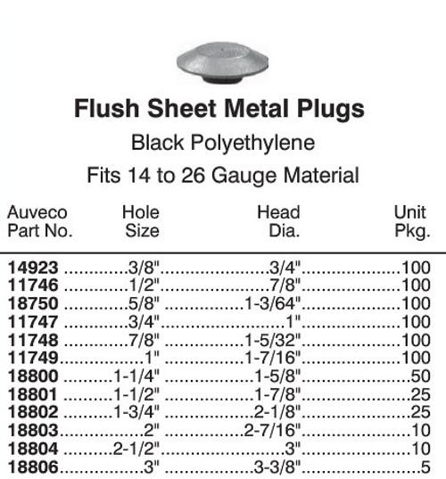 "18750 Flush Plastic Hole Plug - 5/8"" Hole"