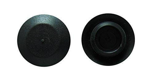 "Hole Size 1"" Flush Type Polyethylene Sheet Metal Plugs Black 100 Per Box See Next Image For Plug Size Chart"