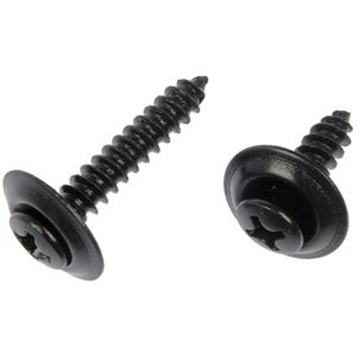 "#10 x 1"" #8 Head Phillips Oval Head Sems Tapping Screws Countersunk Washer Black Phosphate 50 Per Box"