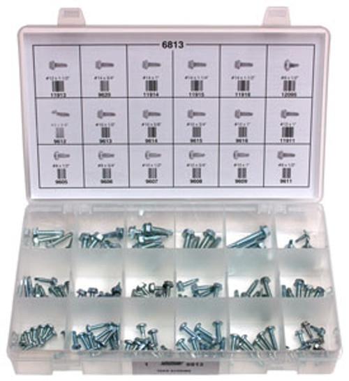 Pan Head & Hex Washer Head Teks Screws Quick-Select Assortment Kit 127 Pieces