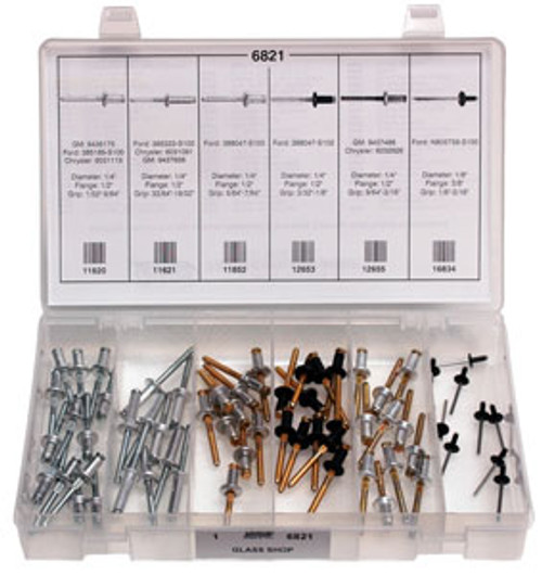 Glass Shop Quick-Select Assortment Kit 63 Pieces
