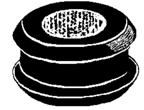 "Bore Diameter: 3/8"" Groove Width: 1/16"" 5/8"" Groove Diameter 25 Per Box Click Next Image For Grommet Size Chart"