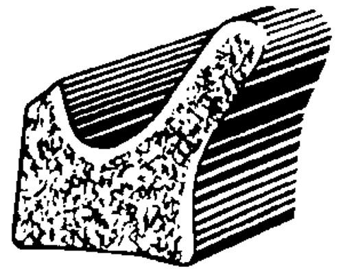 Universal Door Flange Sponge Rubber Weatherstrip 50 Feet Per Box