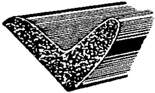 Universal  Sponge Rubber Weatherstrip 50 Feet Per Box