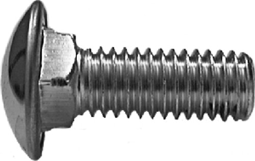 """5/16""""-18 x 7/8"""" Round Capped Head Bumper Bolts - Nuts Not Included Chrome 25 Per Box Click Next Image For Bumper Bolt Spec Chart"""