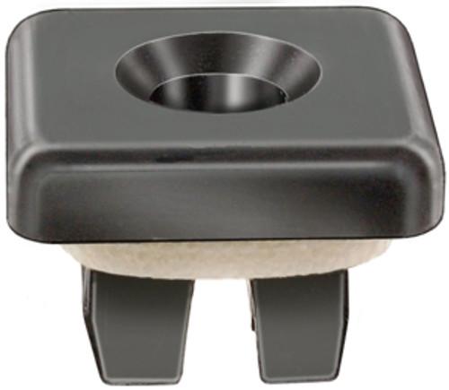 License Plate & Rear Bumper Nylon Nut w/Sealer M6.3 (#14) Screw Size HD Size: 16MM x 16MM Stem Len: 8MM Ford Fusion & Mustang 2005-On Ford OEM#: N811478-S100 Black Nylon 15 Per Box