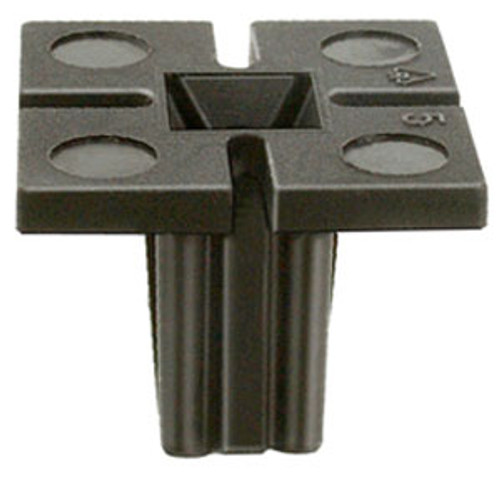 License Plate Screw Grommet M6.3 (#14) Screw Size Head Size: 20mm x 20mm Stem Length: 14mm Buick Skylark, Chevrolet Malibu, Oldsmobile Achieva, Cutlass & Intrigue 1992 - On Black Nylon OEM# 22546934 50 Per Box