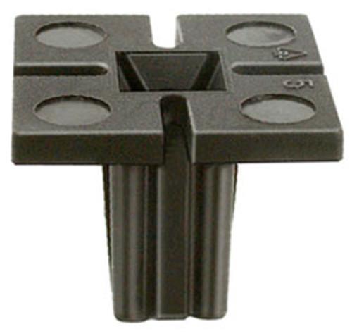 License Plate Screw Grommet M6.3 (#14) Screw Size Head Size: 20mm x 20mm Stem Length: 14mm Buick Skylark, Chevrolet Malibu, Oldsmobile Achieva, Cutlass & Intrigue 1992 - On Black Nylon OEM# 22546934 50 Per Box