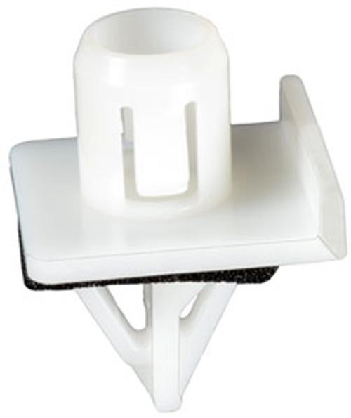 Moulding Clip With Sealer Head Size: 21.5mm x 24mm Stem Diameter: 14.5mm Stem Length: 17mm Subaru Forester 2001-2002 OEM# 91059-FC110 White Nylon 25 Per Box Click Next image For Clip Detail