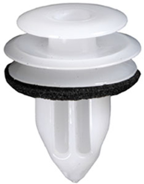 Door Trim Panel Retainer With Sealer Top Head Diameter: 13mm Middle Head Diameter: 16mm Bottom Head Diameter: 15mm Stem Diameter: 9.5mm Stem Length: 14mm Subaru Legacy & Outback 2010-On OEM# 90913-0213 White Nylon 10 Per Box Click Next Image For Clip Detail