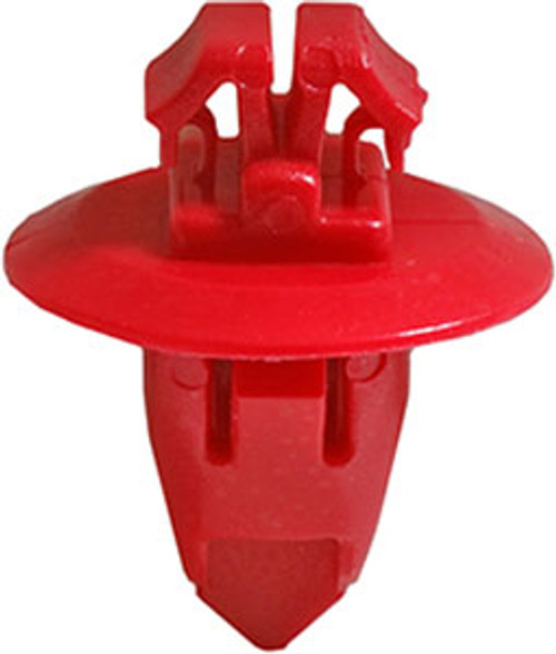 Fender Moulding Clip Head Diameter: 17mm Stem Length: 13mm Highlander, Land Cruiser, Tacoma & Tundra 2001-On OEM# 90904-67037 Red Nylon 10 Per box Click Next Image For Clip Detail