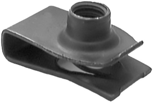 """Extruded U Nut Ford 1/4"""" - 20 17/32"""" Hole Center To Edge .025"""" - .150"""" Panel Range OEM# 45263-S2 Black Phosphate 25 Per Box Click Next Image For Nut Detail"""