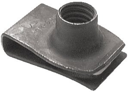 "Extruded U Nut Ford, Chrysler 5/16""-18 Thread Size 9/16"" Hole Center To Edge .025"" - .150"" Panel Range Chrysler OEM#: 6023171 Ford OEM#: 45264 50 Per Box Click Next Image For Nut Detail"