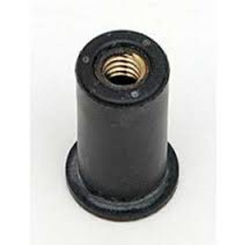 """Well Nut Thread Size: #10 - 24 Range: .030 - .227"""" Material: Neoprene With Captive Brass Nut GM OEM#: 3876130 Voltage Regulator & Dome Light 25 Per Box Click Next Images For Well Nut Size Charts"""
