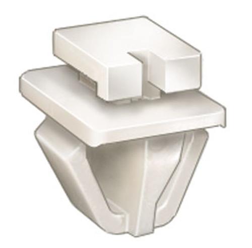 Moulding Clip Top Head Size: 8mm x 10.5mm Bottom Head Size: 8mm x 10.5mm Bottom Head Size: 11mm x 16mm Overall Height: 14.6mm Acura RSX Honda Civic, CR-Z & Insight 2001 - 2006 OEM# 72431-S2X-003 White Nylon 25 Per Box Click Next Image For Clip Detail