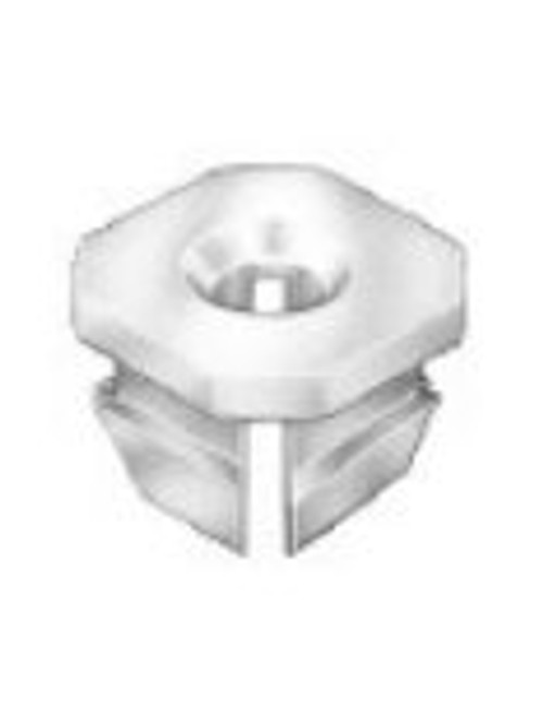 "Front Light Nylon Nut GM 1967-On Screw Size: #8 Range: .060"" - .150"" OEM# 347347 Natural Nylon 50 Per Box Click Next Image For Clip Detail"