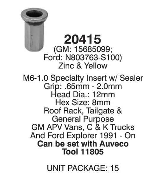 Auveco 20415 Detail *Note Correct Tool Is #20415