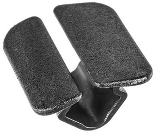 Volkswagon & Audi Seat/SKODA Retainer Head Size: 23mm x 29mm Stem Length: 12mm Black Nylon VW OEM#: 867-863-849-A01C 25 Per Box
