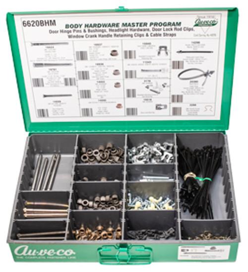 Door Hinge Pins & Bushings, Headlight Hardware, Door Lock Rod Clips, Window Crank Handle Retainer. Clips & Cable Straps.