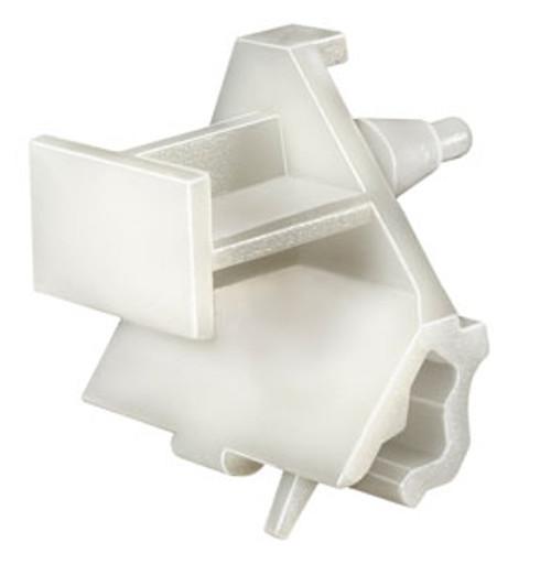 Door Sill & Wheel Housing Rocker Trim Moulding Clip White Nylon Width: 30mm Length: 28mm Overall Height: 29mm BMW 7 Series 2004 - On OEM# 51-11-7-160-451 15 Per Box