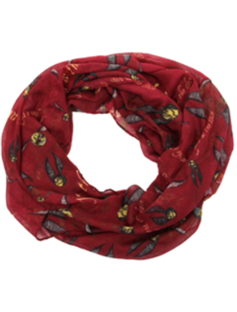 Golden Snitch Print Infinity Scarf