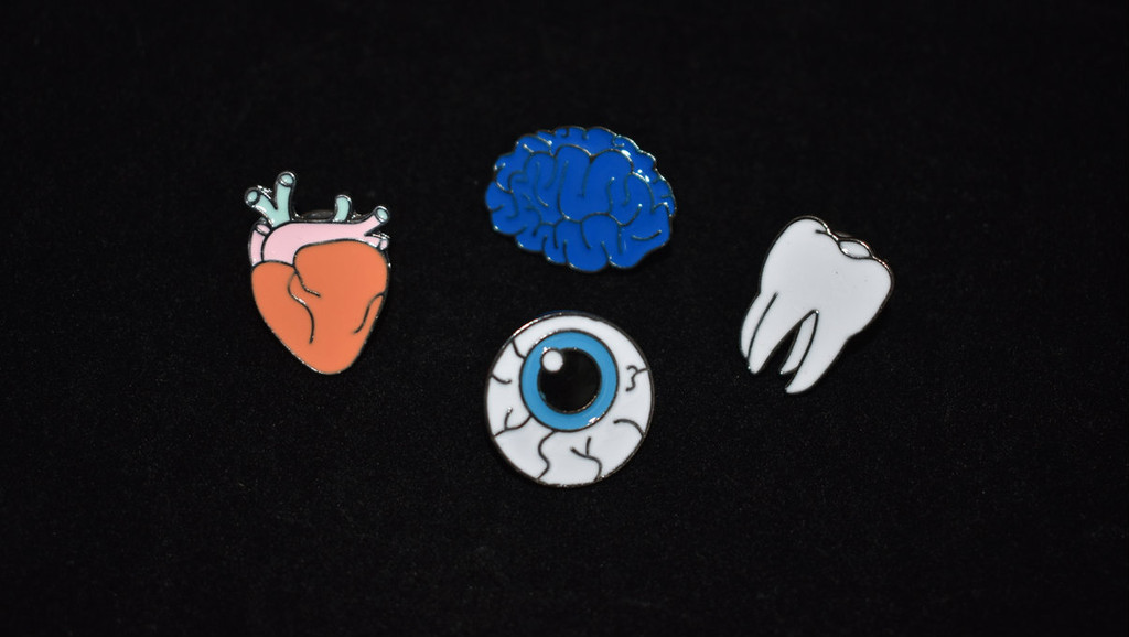 Parts of the Anatomy Enamel Pin Set