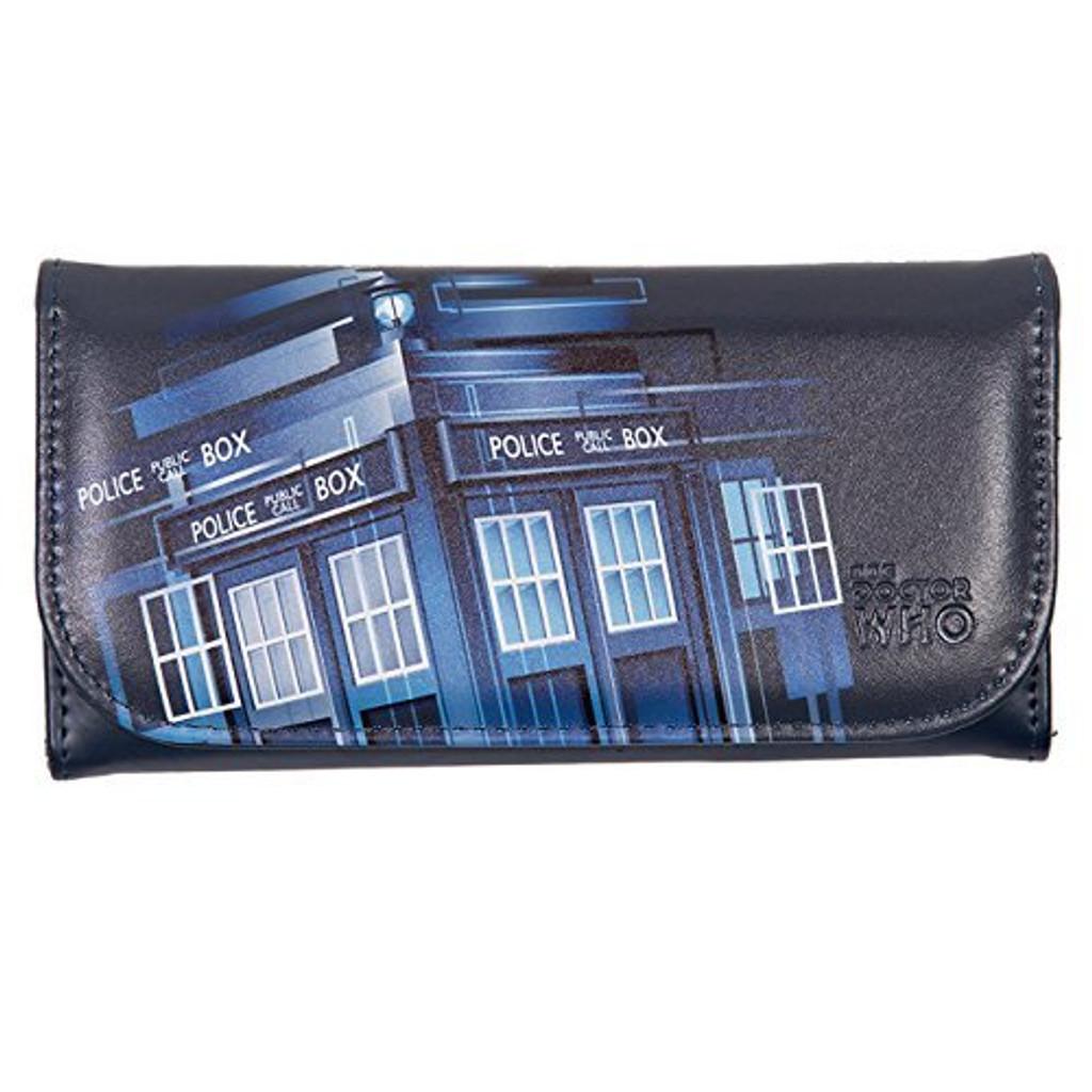 Gradient TARDIS Embossed Wallet