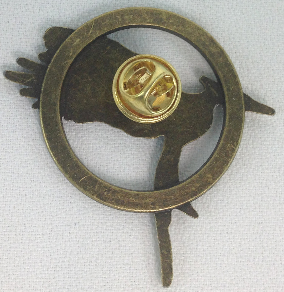The Hunger Games Mockingjay Bronze Metal Pin